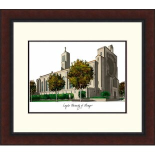 NCAA Loyola Chicago Ramblers Legacy Alumnus Lithograph Picture Frame By Campus Images