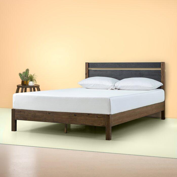 Prins Wood Platform Bed