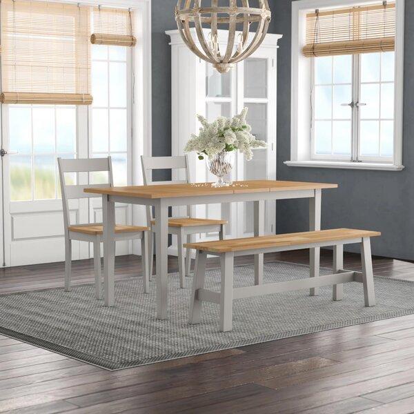 Essgruppe Barstow Mit Ausziehbarem Tisch 2 Stühlen Und 1 Bank