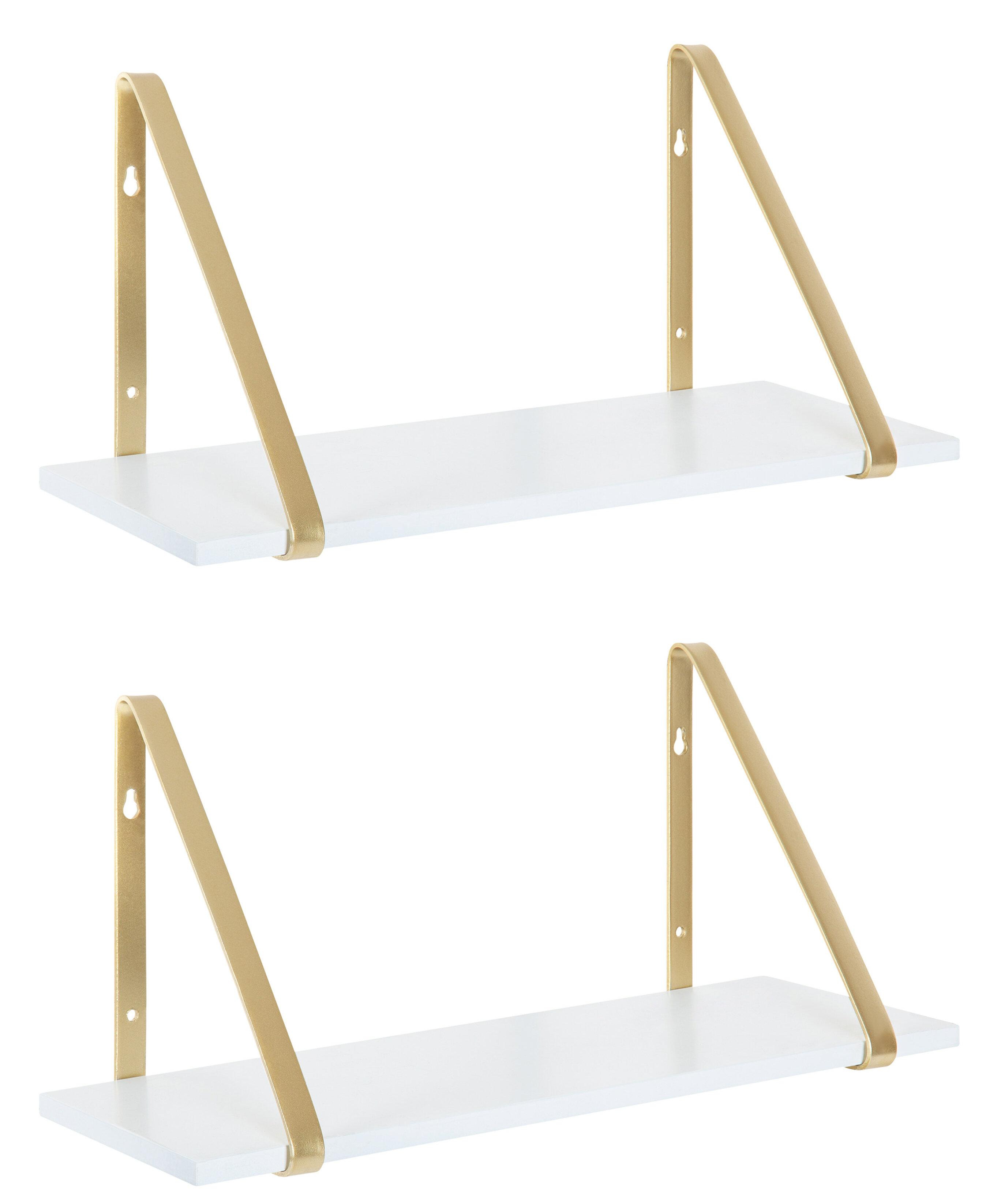 Stinnett Modern Wooden 2 Piece Wall Shelf Set Reviews Joss Main