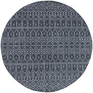 Speers Contemporary Geometric Charcoal Indoor/Outdoor Area Rug