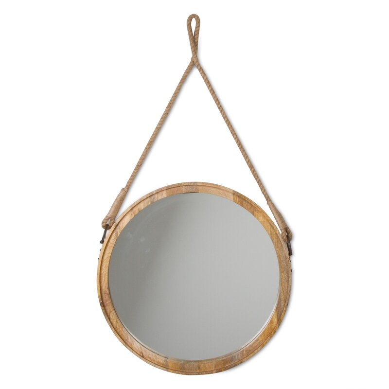 Mango Wood Accent Mirror