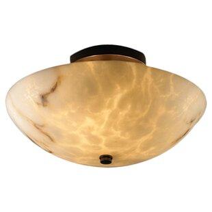 Brayden Studio Keyon 2-Light Semi Flush Mount