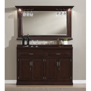 Darby Home Co Rachael Bar Cabinet with Wine Storage
