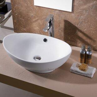 Buying Egg Ceramic Oval Vessel Sink Bathroom Sink By Luxier