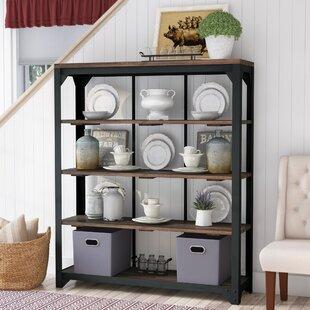 Gracie Oaks Irlee Open Standard Curio Cabinet