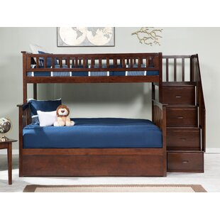 Abel Staircase Twin Over Full Standard Bed with Trundle by Harriet Bee