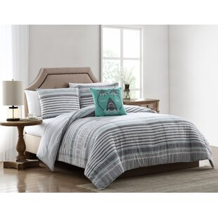Joey Striped Reversible Comforter Set