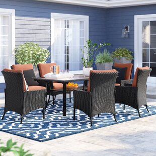 Asherman 7 Piece Dining Set with Cushions