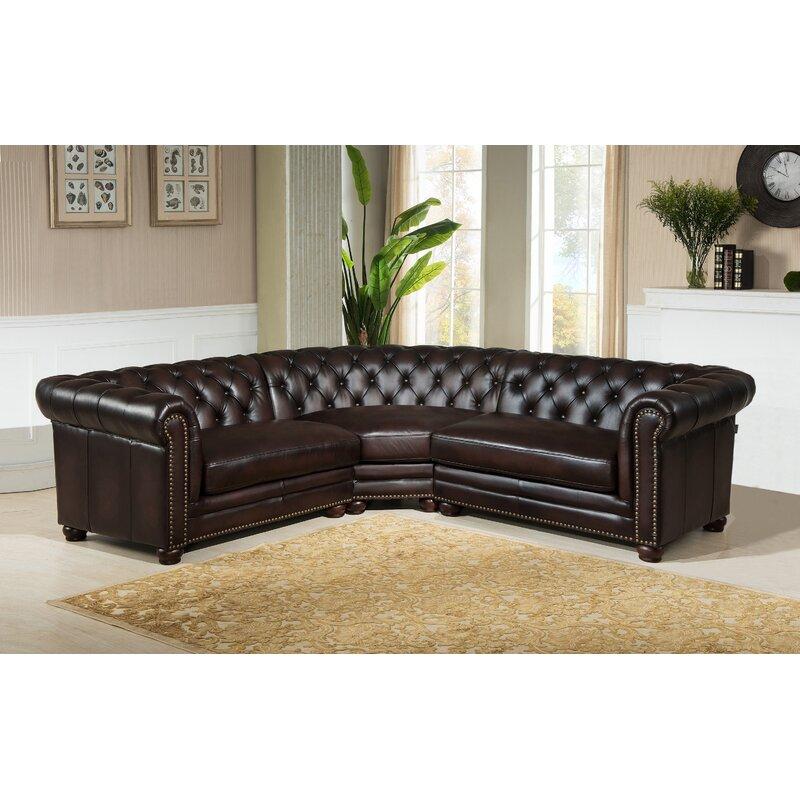 Amax Bakersfield Leather Modular Sectional Wayfair