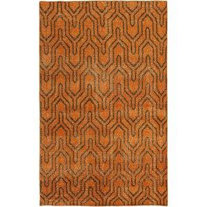 Casteel Geometric Burnt Orange Area Rug