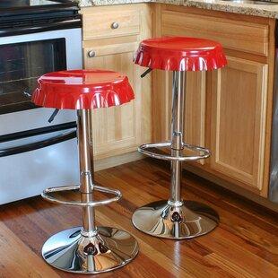 Giambrone Adjustable Height Swivel Bar Stool (Set of 2) by Orren Ellis