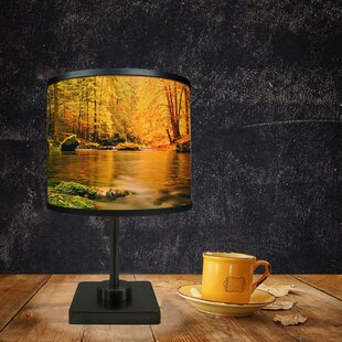Affordable Woodlands in Autumn 16.38 Table Lamp By East Urban Home