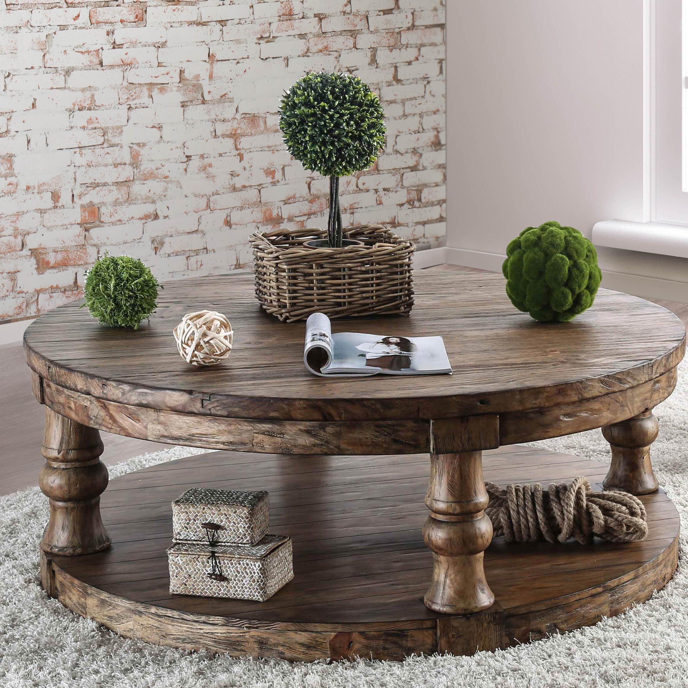 Gracie oaks amstel farmhouse coffee table reviews wayfair