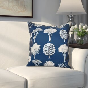 Miller Field of Trees Floral Outdoor Throw Pillow