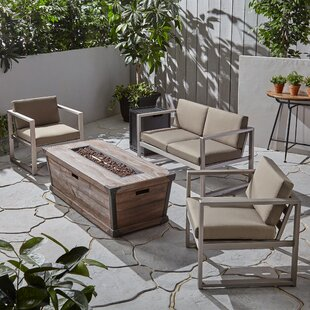Ruvalcaba Outdoor 5 Piece Sofa Seating Group with Cushions