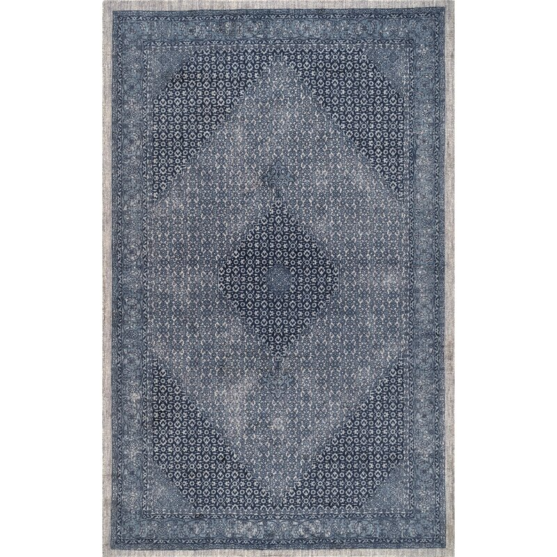 Aryana Oriental Handmade Wool Blue Area Rug Reviews Joss Main