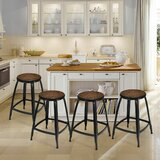Napoli Solid Wood Bar & Counter Stool by 17 Stories