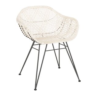 Mistana Vicky Leather Woven Dining Chair