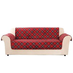 Lodge Tartan Plaid Box Cushion Sofa Slipcover by Sure Fit
