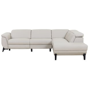 Orren Ellis Axtell Modern Reclining Sectional with Electrical Recliner