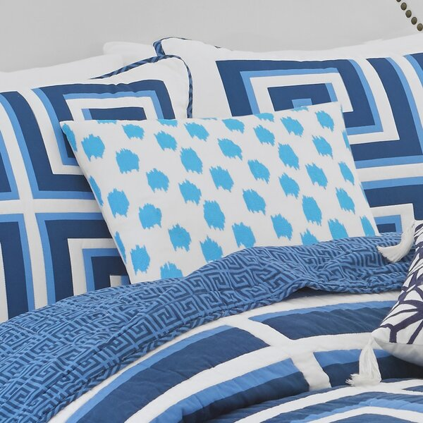 Jill Rosenwald Home Greek Key Embroidered Decorative Cotton Throw Pillow Wayfair