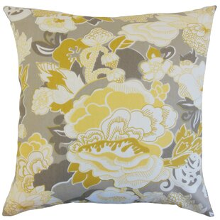 Dariela Floral Cotton Throw Pillow
