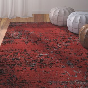 Reviews Fayme Red/Black Area Rug ByWorld Menagerie