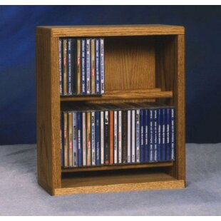 200 Series 52 CD Multimedia Tabletop Storage Rack Wood Shed