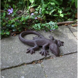 Tehama Cast Iron Small Lizard Statue Image