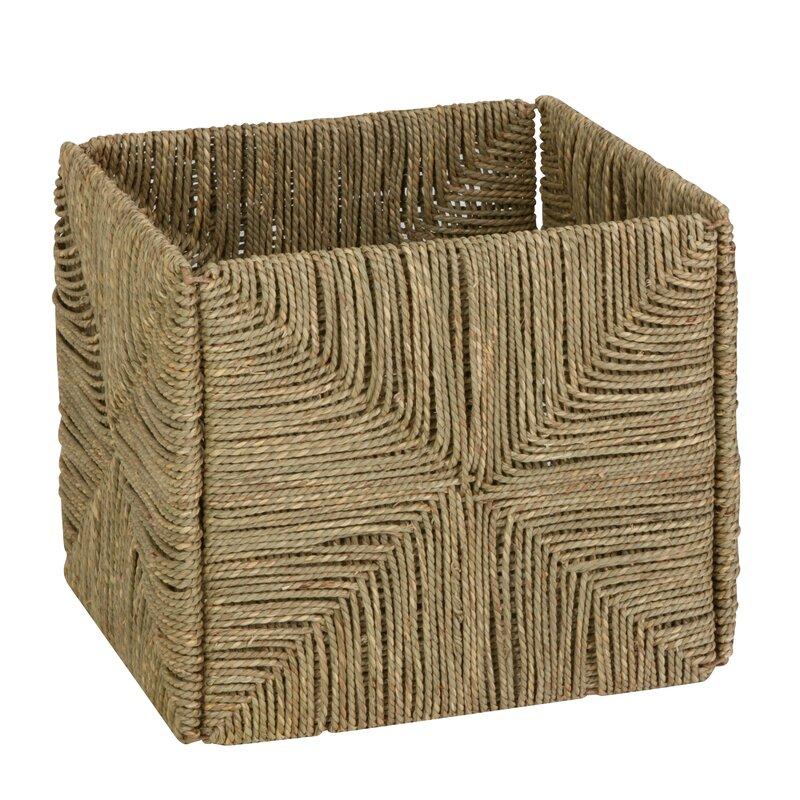 Folding Seagrass Storage Basket
