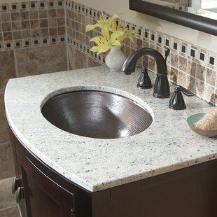 Wallace Metal Oval Undermount Bathroom Sink Sinkology
