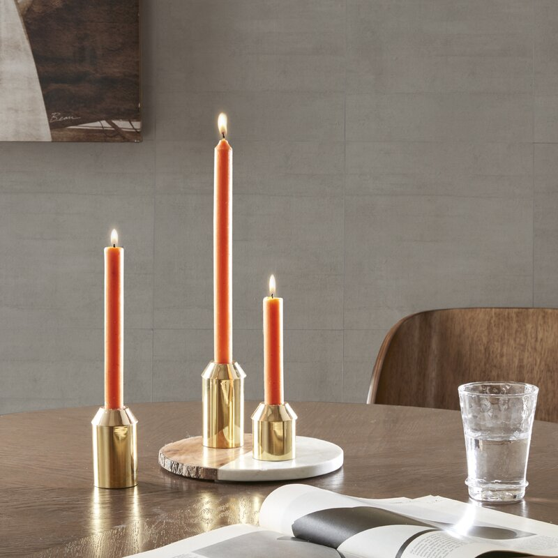 Sidney 3 Piece Metal Candlestick Set