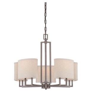 Ivy Bronx Hassler 5-Light Shaded Chandelier