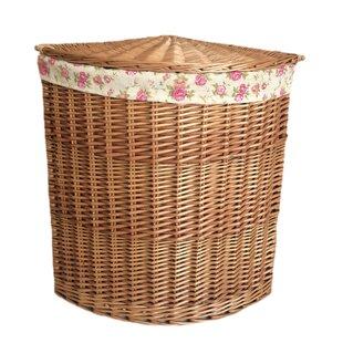 Corner Garden Rose Lining Wicker Laundry Bin By August Grove