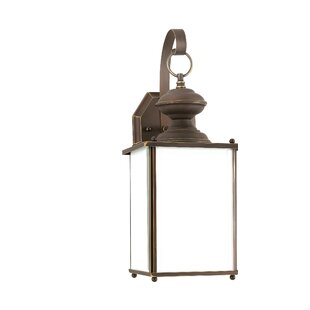 Reviews Carlton 1-Light Outdoor Wall Lantern By Darby Home Co
