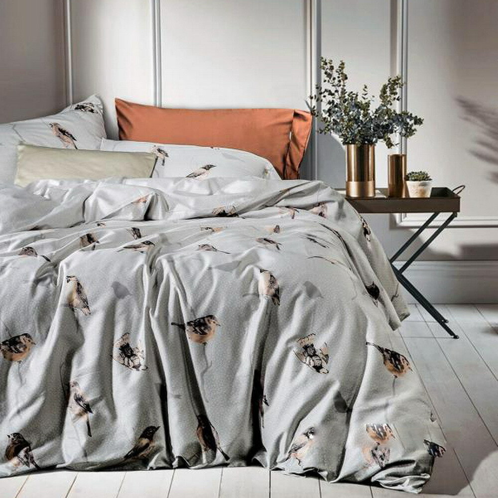 Tropica Floral 100/% Cotton 220 Thread Count Duvet Covers Reversible Bedding Sets