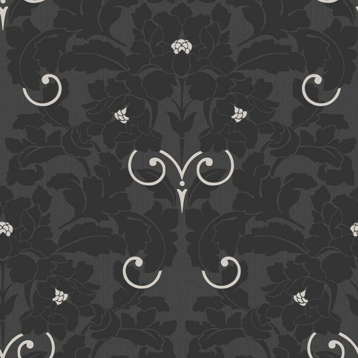 Laurence Llewelyn Bowen 10m L x 52cm W Damask Foiled Roll Wallpaper