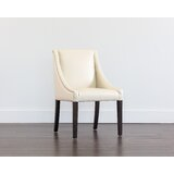 Burgin Upholstered Parsons Chair in Cream by Red Barrel Studio®