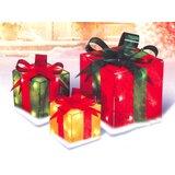 3 Piece Glistening Gift Box Christmas Lighting Display Set