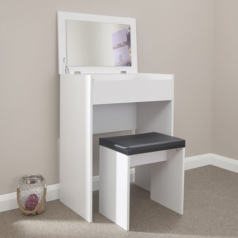 Anna Compact Dressing Table Set with Mirror