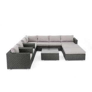 Brayden Studio Bennett Outdoor Sectional Seating Group with Cushions