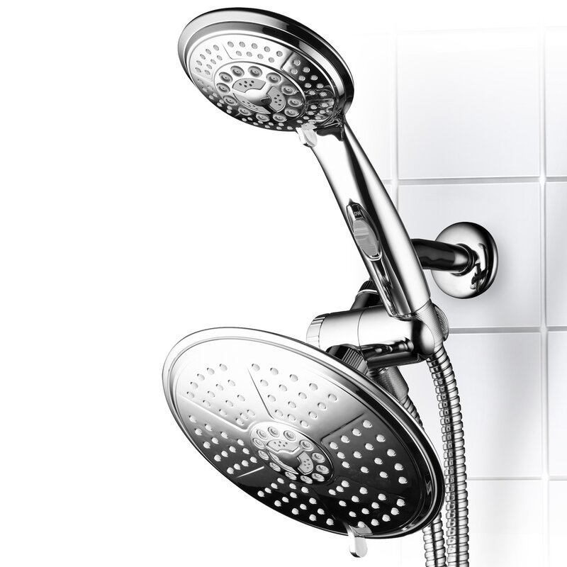 DreamSpa Ultra-Luxury 3-Way Rainfall Shower Head & Reviews | Wayfair
