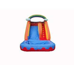 JumpOrange Rainbow Cloud Water Slide with 100% PVC