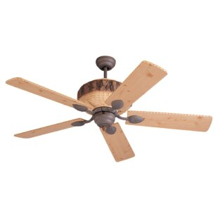 Deer antler ceiling fan wayfair 52 elvina pine 5 blade ceiling fan aloadofball Choice Image