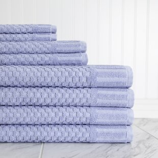 Luxe Textured 8 Piece 100% Cotton Towel Set