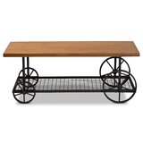 Landreth Wheel Coffee Table with Storage by Williston Forge