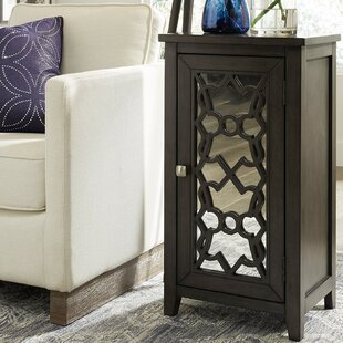 Capps 1 Door Mirrored Accent Cabinet by Bungalow Rose