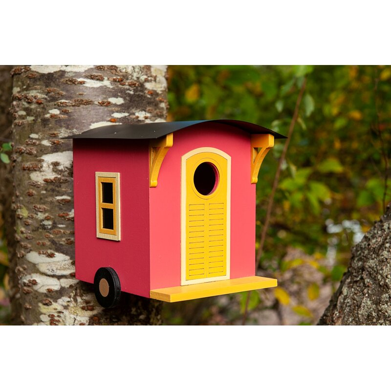 Home Bazaar Tiny House Caboose On The Loose 7 In X 6 In X 7 In Birdhouse Wayfair