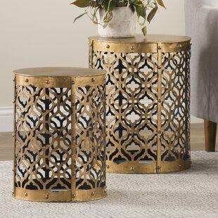 Whitt 2 Piece End Table Set by Willa Arlo Interiors